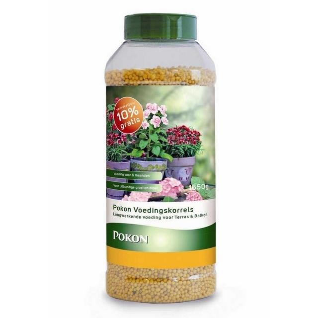 Voedingskorrels Terras en Balkon 1.5 kg +10% - Pokon