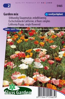 Slaapmutsje Garden mix, enkelbloemig