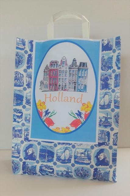 Delfts Blauw Cadeautas met Tulpen